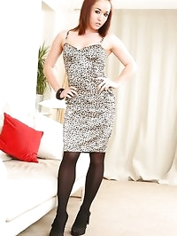 Kayleigh looks stunning in her black and white dress white..