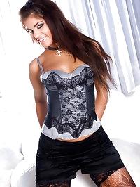 Cute brunette hottie in stockings having cock