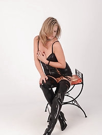 Hot Milf Louise enjoys teasing you as she unzips her tight..