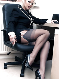 Leggy Lana enjoying some horny office games