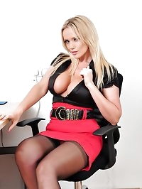Gorgeous Milf Lucy Zara tied up and teased at work by sexy..