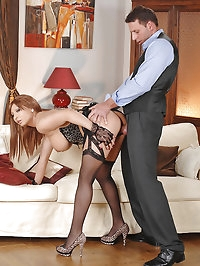 Selina gets her pussy & tits fucked