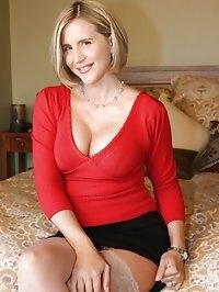 Sexy Blonde Slut Wife Stripping Down