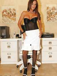 HotWifeRio stripping out of her business suit and showing..