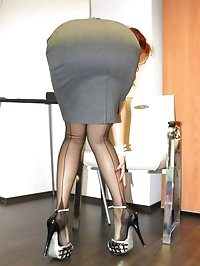 office boss upskirt and nylons