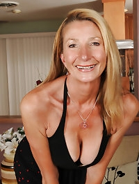 New mature model Pam shows off her sleek 56 year old body..