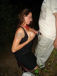 Stranger rendezvous and she lets him shoot on her feet