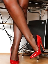 Danica Collins your busty secretary in stockings
