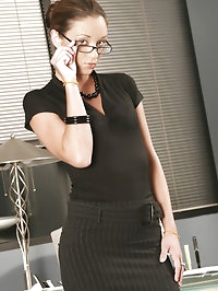 Sexy Jordana at the office fucking at work