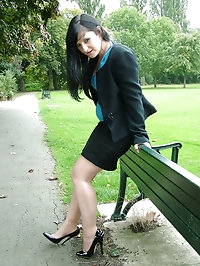 A bit of outdoor high heel fun with one of our gorgeous..