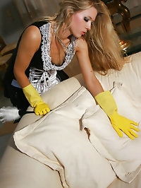 Interracial rubber glove fetish sex