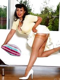 Danica Collins slips off her panties to masturbate on the..