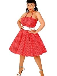 Danica Collins retro pinup girl in tan stockings