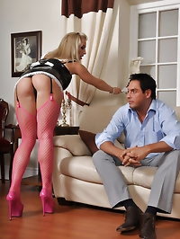 SLutty house maid Becs gets fucked hard by her boss for..