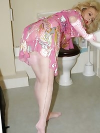 layered blonde gets horny