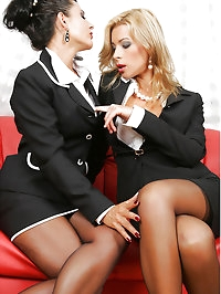 Lesbian Secretary Eve and Jenna Jane
