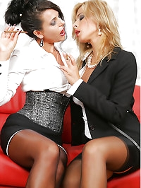 Lesbian Secretary Eve and Jenna Jane