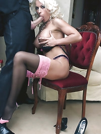 Leggy Lana sucks off her chauffeur before being driven to..
